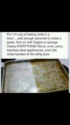 I needed this about 30 mins ago!!   Cleaning tip for cleaning pans