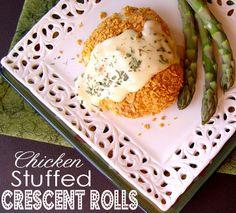 Chicken Stuffed Crescent Rolls