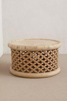 Lattice Drum Coffee Table - anthropologie.com