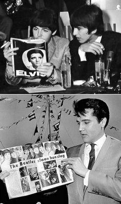 .The Beatles and Elvis Presley