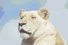 White Lion Cross Stitch Chart, White Lion Cross Stitch Pattern, Counted Cross Stitch Chart (PDF) - pinned by pin4etsy.com November 2015, Cross Stitch Patterns, Craft Supplies, Lion, Shops, Pdf, Chart, Random, Friends