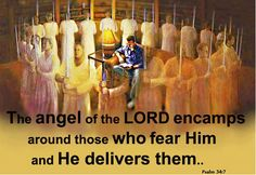 The angel of the Lord encampeth round about them that fear him and delivereth them. Spiritual Images, Jesus Is Coming, Old And New Testament, Armor Of God, The Son Of Man, Spiritual Warfare, Jesus Is Lord, Spiritual Inspiration, Christian Inspiration