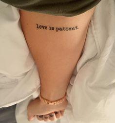 A constant reminder  #tattoo #1corinthians13 #love