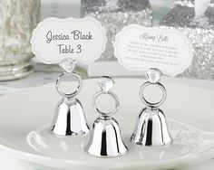 With this Ring Diamond Ring Kissing Bells (Set of 24)