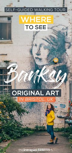 """From the """"Well-hung Lover"""" to """"The Girl with the Pierced Eardrum"""", this Banksy walking tour in Bristol takes you to all surviving Banksy art in his hometown. Bristol Harbour, Bristol City, Banksy Art, Graffiti, Castle In The Sky, Going On Holiday, Free Travel, Travel Guides, Travel Tips"""