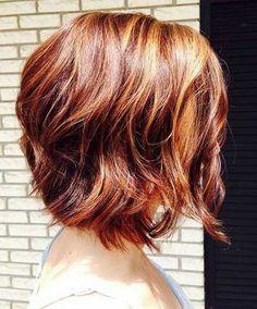 Fine, thin hair idea...Textured Bob for Redheads
