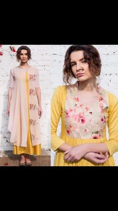 Tunic layered...floral yellow