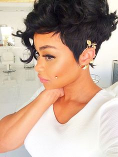 Short hair weave