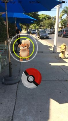 If you see a yellow circle, that means you're looking at a Pokémon with higher CP.