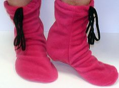 free flecce patterns | Moccasin Slipper Boots pdf Pattern - Flower Girl Designs Collection