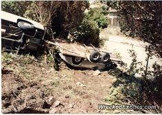 Lamborghini Countach crashed