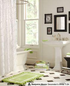 Black and white bathroom inspiration Teen Bathrooms, Upstairs Bathrooms, Dream Bathrooms, Edwardian Bathroom, Bathroom Inspiration, Bathroom Ideas, Bathroom Designs, Barn Bathroom, Washroom