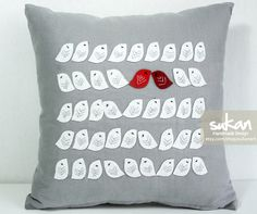 More bird pillows - I am obsessed