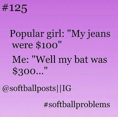 Softball I swear this baseball too but more like 600