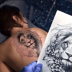 50 fantastic lion tattoos - Tattoos - Tattoo Designs for Women Tattoo Bein, Leo Tattoos, Bild Tattoos, Symbol Tattoos, Future Tattoos, Body Art Tattoos, Sleeve Tattoos, Tatoos, Horse Tattoos