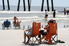 Jacksonville Beach, beach chairs in surf. Jacksonville Beach, September 2, Us Beaches, Beach Chairs, Amazing Photography, Surfing, Florida, American, The Florida