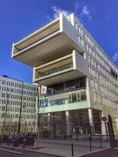 """Paris, France. The brand new complex built for """"SFR"""" Headquarters in Saint Denis (Architect Jean-Paul Viguier). by Pol Bacquet"""