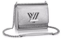 Louis Vuitton Twist Lock Bag In Silver Epi Leather Lv Handbags, Handbags On Sale, Luxury Handbags, Louis Vuitton Handbags, Fashion Handbags, Designer Handbags, Cheap Purses, Purses And Bags, Cheap Bags