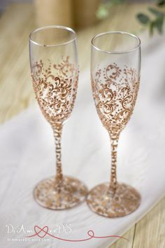 Personalized Wedding Glasses And Cake Server Set Silver