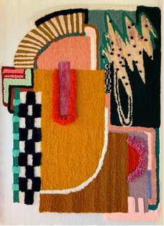 Tapis Funky, Funky Rugs, Tapestry Weaving, Rug Hooking, Fabric Art, Creations, Arts And Crafts, Artsy, Crafty