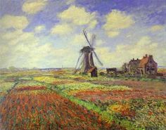 Monet, Claude - Tulip Fields in Holland - Impressionism - Landscape - Oil on canvas 1886
