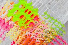 neon post-it structures - plenty of colour