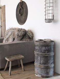 Love this look. Cozy, yet industrial casual.