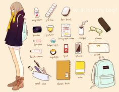 what's in my bag? illustration