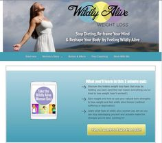 """My website got a little """"facelift"""" what do you think?  #wildlyalive #weightloss"""