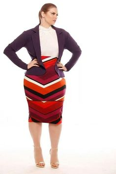 I love the skirt! High waists make me happy. And I love how the cardigan makes the purple in the skirt pop!