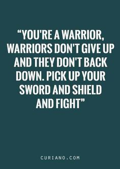 This is so very hard for me. My family has always told me how weak I am. Weakness is giving in and giving up. I have done neither and I refuse to! Not to prove them wrong. ( I never will) But for myself and my children.