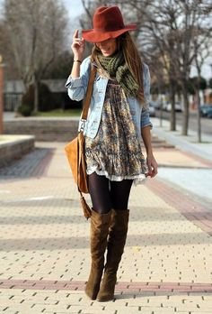 Cute..I'm loving these suede boots. I Love Suede boots, Booties, anything Suede.