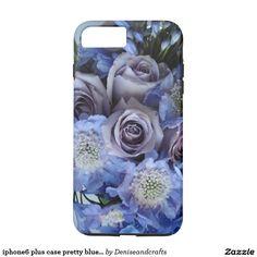 iphone6 plus case pretty blue flowers