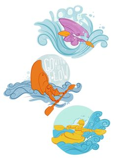 Freestyle #kayak #kayaking #illustrations