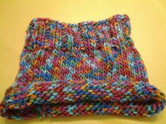 Cuello con lana mecha multicolor
