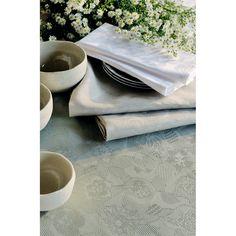 Set de table fantaisie Garnier-Thiebaut - Modèle : Mille pensées - Set de table en coton enduit - Coloris : vert