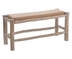 Bankje met zitkussen, naturel/beige, B 101 cm