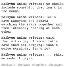 This is how the anime gets gayer and gayer. But I ain't complaining