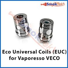 "Vaporesso EUC Replacement Coil for VECO tank | SmokTek.com - These replacement coils are designed for the VECO Top-filling atomizer included in the Vaporesso Tarot Mini kit. These coils will fit the Vaporesso Veco, Veco One, Veco Plus and Estoc atomizers. EUC stands for ""Eco Universal Coils""."