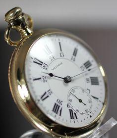1905 Antique American Waltham P.S. Barlett Pocket Watch
