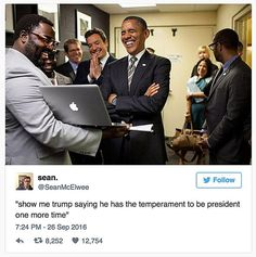 Funniest Barack Obama Memes of All Time: Obama on Trump's Temperament