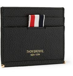 Thom Browne Pebble-Grain Leather Cardholder   MR PORTER