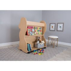 Ace Baby Furniture Lion Mobile Double-Sided Bookcase - MBLNM1038