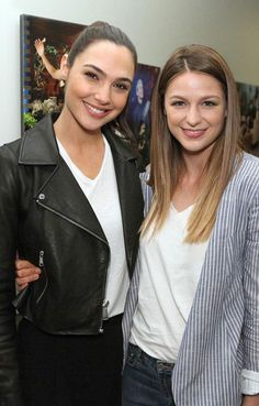 Wonder Woman (Gal Gadot) and Supergirl (Melissa Benoist)