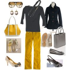I like the yellow pants... I wonder if I could pull it off
