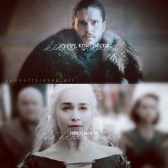 Game of thrones Jon+Dany  #jonsnow #daenerystargaryen #kitharington #Jonerys #otp