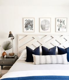 Change the look and feel of your bedroom in an instant by trying a new headboard. These unique headboard ideas are sure to inspire you to make a change! Diy Bed Headboard, Headboard Designs, Headboard Ideas, Making A Headboard, Modern Headboard, Home Bedroom, Bedroom Decor, Airy Bedroom, Master Bedroom