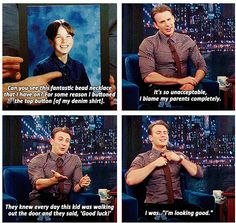 Chris Evans ... Can you see this fantastic bead necklace that I have on?