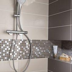 Faïence mur blanc lin Loft brillant x cm Zen Bathroom, Modern Master Bathroom, Grey Bathrooms, Bathroom Design Small, Bathroom Interior Design, Bathroom Fixtures, Bathroom Hooks, Bathroom Ideas, Bad Inspiration
