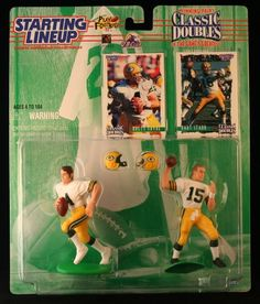 1997 NFL Starting Lineup Classic Doubles  Brett Favre  Bart Starr  Green Bay Packers -- Find out more about the great product at the image link.Note:It is affiliate link to Amazon.